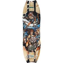 Landyachtz Wolf Shark Warrior Woman Longboard Deck Black Orange 10x35.5