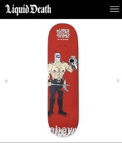 Liquid Death / Tony Hawk Skateboard Hawk Blood Deck Only 100 Made