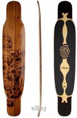 Loaded Bhangra Flex 2 Bamboo Longboard Skateboard Deck With Grip Tape