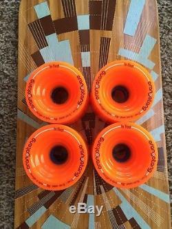 Loaded Tan Tien Flex 2 Bamboo Longboard Deck & In Heat Orangatangs New