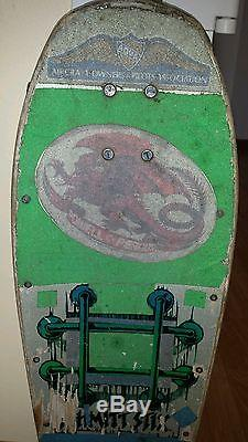 Lucero Schmitt Stix Vintage 1980's Old School Skateboard Deck 80's Tracker truck
