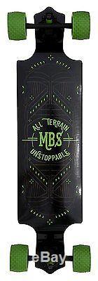MBS All-Terrain Longboard w 78A Urethane Wheels Maple-Lam Drop Deck Abec 9