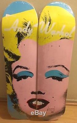 Marilyn Monroe Andy Warhol Alien Workshop Skateboard Deck Supreme Super Rare Set