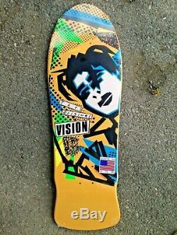 Mark Gonzales Vision Skateboards Original MG Yellow Blue Old School Reissue Deck