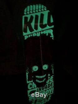 Mars attacks Santa Cruz skateboard deck Glowing fear glow in the dark #6 GITD