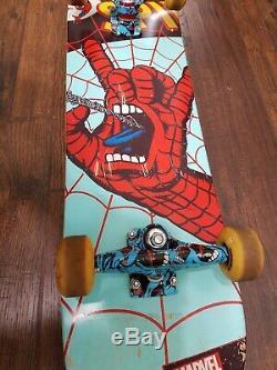 Marvel X Santa Cruz Spiderman Screaming Hand Ltd Complete Skateboard Stan Lee