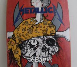 Metallica 1986 Zorlac Pirate Skateboard Deck Pushead