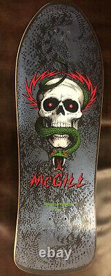 Mike McGill Powell Peralta Bones Brigade Era NOS Skateboard Deck Blue 90s