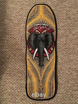 Mike Vallely Signed Skateboard Deck Yellow Powell Peralta Elephant Reissue