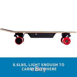 Motorized Electric Skateboard Wireless Remote Control Maple Deck Longboard