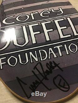 NEW Corey Duffel Rare Edward Scissorhands Signed Skateboard Deck Foundation