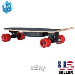 NEW Electric Skateboard 350W Hub Motor Bluetooth Remote Maple Deck Longboard