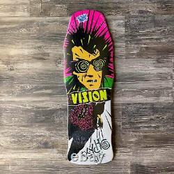 NEW Vision Psycho Stick Reissue Vintage Skateboard Deck White