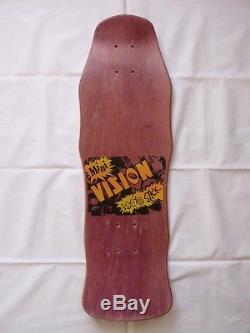 NOS 1986 Vision Psycho Stick Mini Skateboard Deck Vintage
