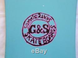 NOS 1987 G&S Nicky Guerrero Skateboard Deck Vintage