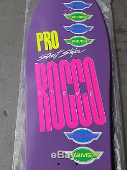 Nos 1987 Sims Steve Rocco Street Style Skateboard Deck