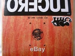 NOS 1989 Lucero Ltd. John Lucero Skateboard Deck Vintage Santa Cruz