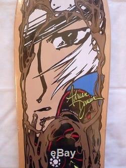 NOS 1990 Tracker Adrian Demain Skateboard Deck Vintage