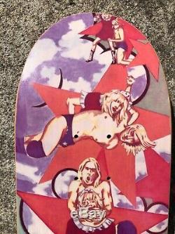 NOS 1995 Foundation Kurt & Courtney Slick Bottom Skateboard Peterson Art NIRVANA