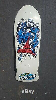 NOS 80s Vintage Santa Cruz Rob Roskopp 4 foam deck OG skateboard