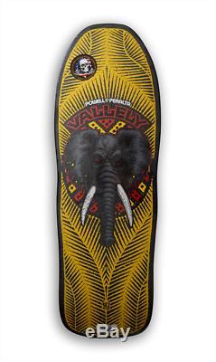 NOS Powell Peralta Mike Vallely Elephant Reissue skateboard deck yellow black