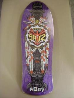 NOS Powell Peralta Steve Saiz TOTEM POLE Skateboard Deck PURPLE STAIN