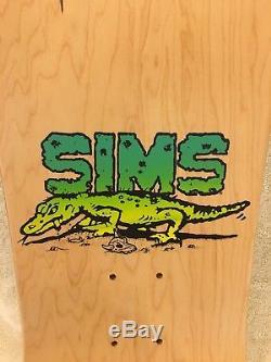 NOS Vintage Sims Eric Nash Lizard skateboard deck Alva G&S Powell Santa Cruz