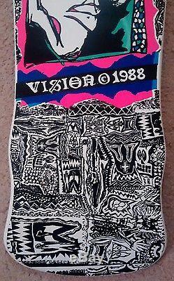 NOS / Vision John A Grigley pro model old school skateboard deck / VTG 1988