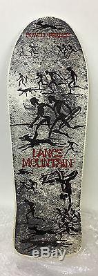 NOS vintage 80's powell peralta lance mountain skateboard deck rare white DIP