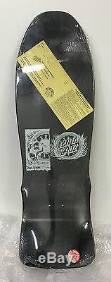 NOS vintage 80's santa cruz clause grabke skateboard deck rare black DIP