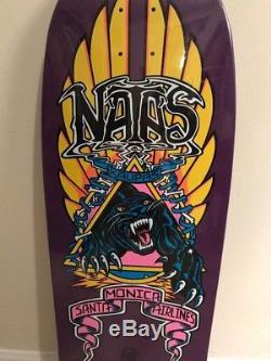 Natas Kaupas Santa Cruz Reissue Skateboard deck panther