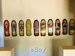 Nos ALVA Bill Danforth Circle Of Skulls Original 80s Vintage Skateboard Deck