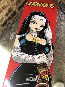 Nos Hook-Ups Skateboard Deck 2000s Rare 1st Press Girl Nun Birdhouse Klein