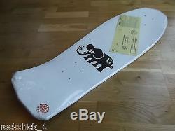 Nos Santa Cruz Lucero' Blue' Cross Skateboard Deck New 1988 White