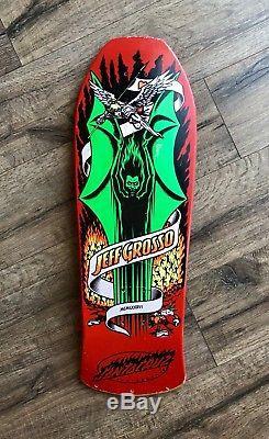 OG Jeff Grosso Demon Santa Cruz Vintage Skateboard Deck 80s Schmitt stix Powell