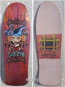 OG Schmitt Stix John Lucero X-2 Skateboard Deck X2 New deal black label