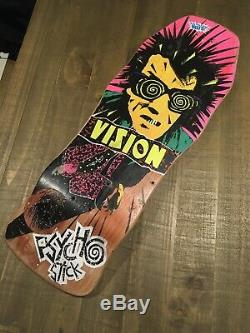 Old School Skateboard Vision Psycho Stick Board. ORIGINAL Vintage 80s