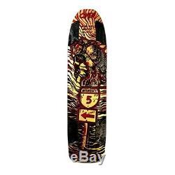Omen Buzzkill Longboard Deck Black Red 36.5x9.5