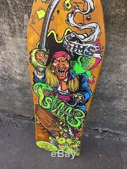 Original 1988 Sims Kevin Staab Pirate Skateboard Deck OG Vintage