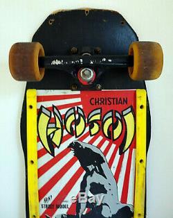 Original Vintage Christian HOSOI Hammerhead Skateboard Street Deck Santa Cruz