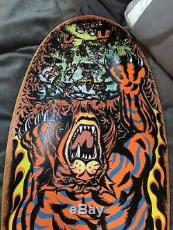 Original Vintage Santa Cruz Salba Tiger Skateboard Deck NOS Not a reissue