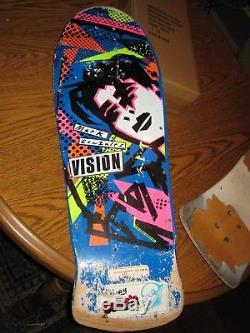 Original Vision Mark Gonzales 1980s Skateboard, Powell Peral, Santa Cruz Vintage