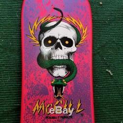 POWELL PERALTA MIKE MCGILL SKULL & SNAKE Pink Skateboard Bones Brigade Reisssue