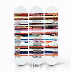 Playboy Mark Vessey Triptych 3 Deck Skateboard like Supreme skate Art