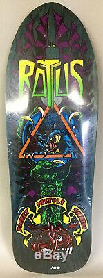 Pocket Pistols Skateboards Ratus Natas Kaupas Parody NOS Deck 38 of 60 Rare