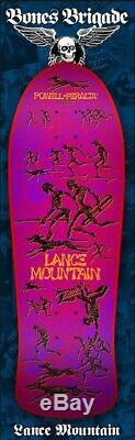 Powell Peralta BONES BRIGADE Lance Mountain FUTURE PRIMITIVE Skateboard Deck RED