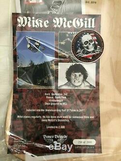 Powell Peralta Mike McGill Skateboard Deck-Bones Brigade 11 Vintage Wood Pink