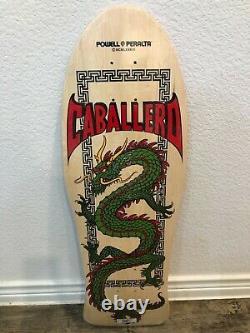 Powell Peralta NEW Natural Caballero full dragon Skateboard Deck Hawk McGill