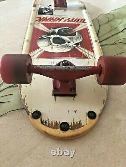 Powell Peralta OG Tony Hawk white Skateboard 1983 Kryptonics Tracker Fat Tail