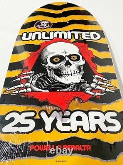 Powell Peralta RARE Ripper 80s yellow Reissue Skateboard Deck Pig Hawk Mullen